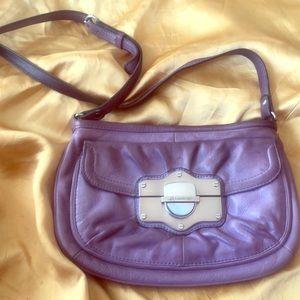 B. Makowsky Purple Leather side Purse